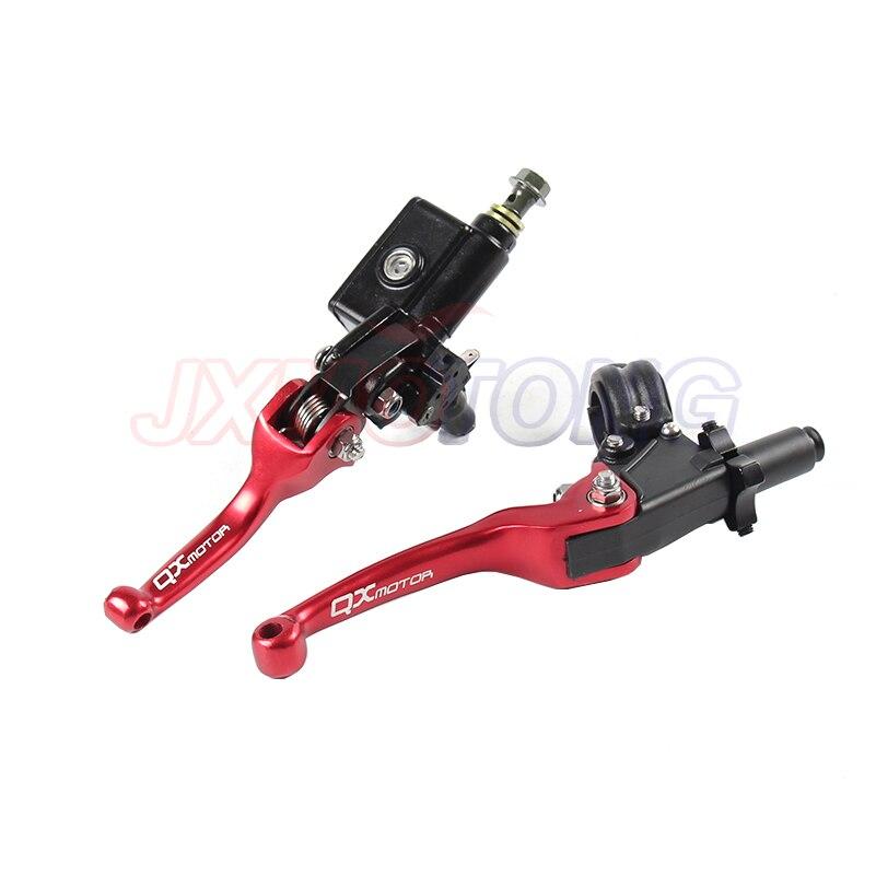 CRF QX nouveau levier de frein pliant CNC levier d'embrayage avec pompe avant pour la plupart des motocyclettes de motocross CRF KLX YZF RMZ