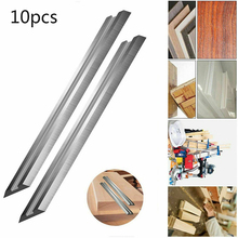 10Pcs 82mm Electric Handheld Wood Planer Planers Blades Reversible Electric Blades Boxed HSS Power Tools Grinders Wood Machinery