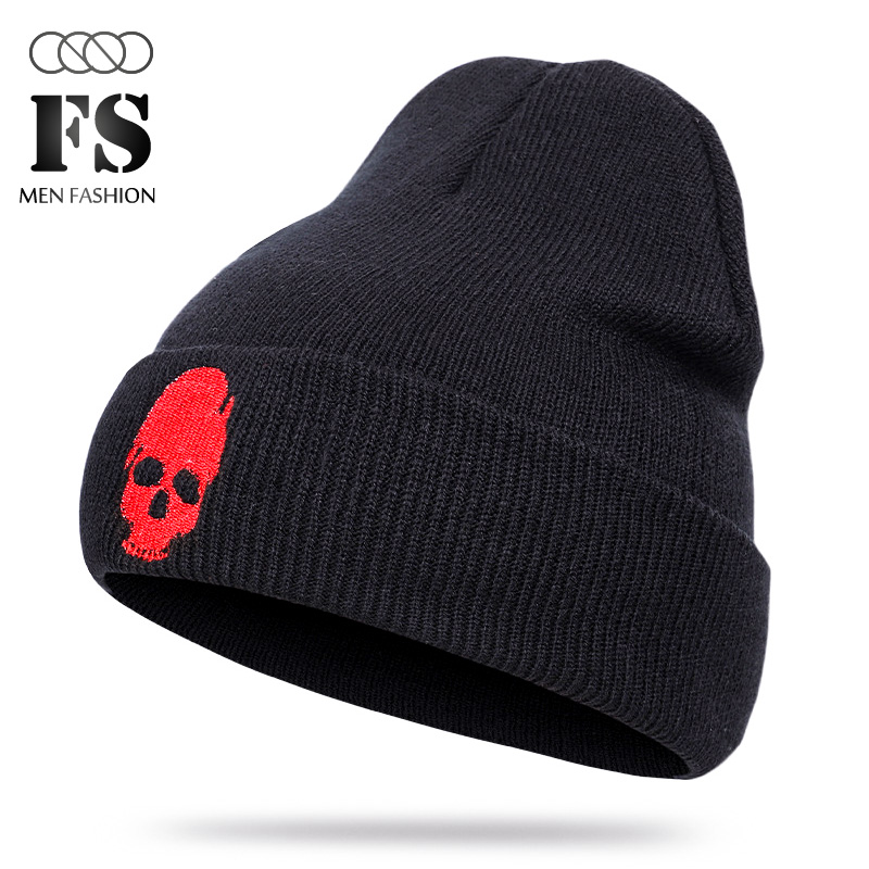 Unisex Bone Beanie Knitted Hat Winter Hats Skull Style Skullies & Beanies For Man And Woman Warm Winter Cap