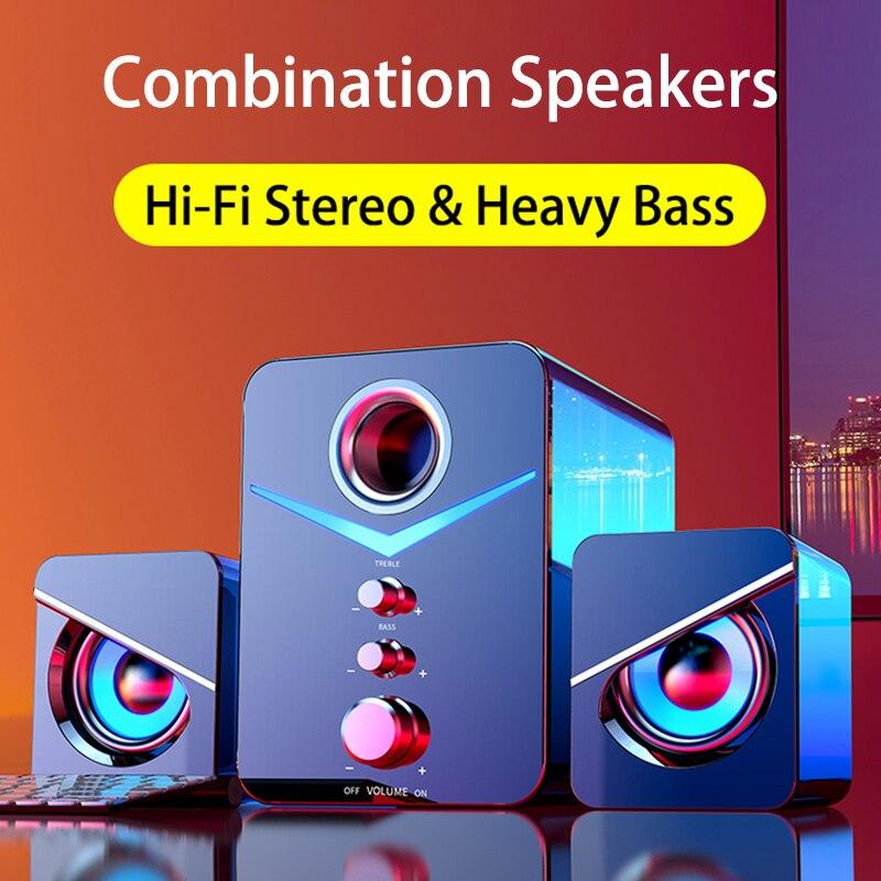 קולנוע ביתי מערכת Caixa דה סום מחשב סאב Bluetooth רמקול מחשב רמקולים מוסיקה Boombox מחשב שולחני Altavoces טלוויזיה רמקול בלוטוס רמקולים למחשב