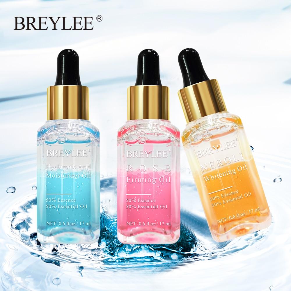 BREYLEE Hyaluronic Acid Essential Oils Moisturizer Whitening Essence Face Skin Care Rose Firming Facial Serum Anti-Aging 1PCS