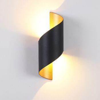 Oświetlenie zewnętrzne oświetlenie ganku oświetlenie zewnętrzne kinkiety aluminiowe nowoczesne 10W tanie i dobre opinie UDDALight CN (pochodzenie) Aluminium Pieczenia waterpoof ROHS IP65 85-265 v 2years Oświetlenie domu Klin TEMPERED GLASS
