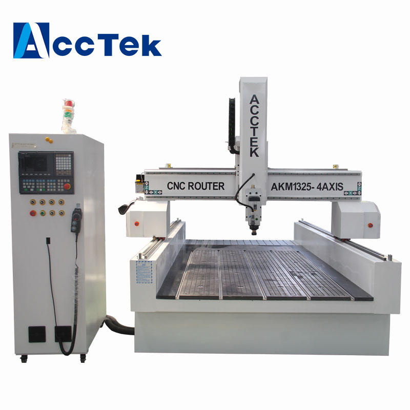 Large CNC Router With Rotary Spindle 180 Degree Powerful Servo Motors 4 Axis Cnc Wood Router 1300*2500mm