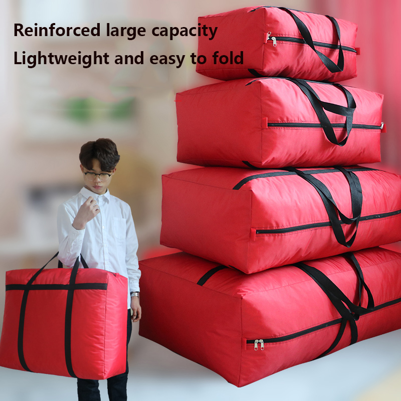 Extra Large Shopping Bag Quilt Storage Bag  Quilt Dust Bag Thickened No Odor Moisture-proof Moving Packing Large Bag Travel Bag