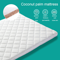 safe comfortable baby mattress for crib natural coconut palm washable outer cover newborn toddler bed mattress fit standard size