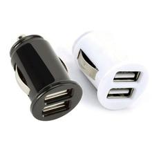 Ładowarka samochodowa Mini 2 4A 3 2A podwójna ładowarka USB szybka ładowarka przejściówka do telefonu komórkowego akcesoria do tabletów samochodowych cheap CN (pochodzenie) Car Power Adapter 10 g 5 cm China 3 cm Plastic 2 4A 3 2A (Optional) Black Silver (Optional)