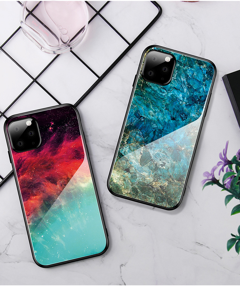 Marble Pattern Silicone Case For Iphone 11 Case Slim Clear Soft TPU Cover Support Wireless Charging For Iphone 11 Pro Max (US STOCK)