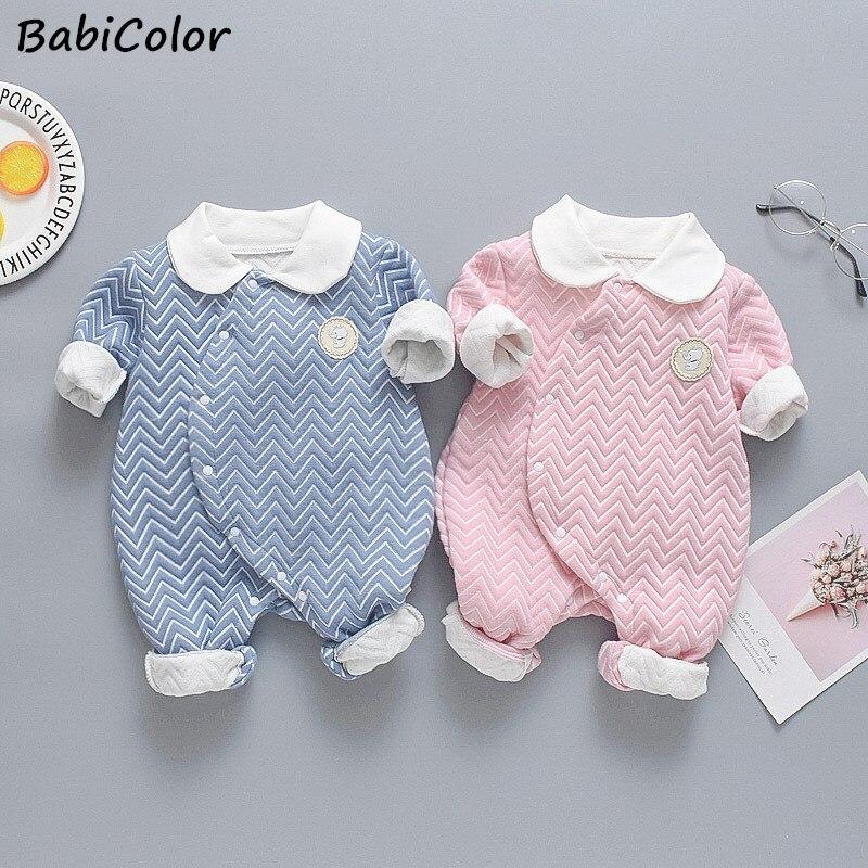 תינוק Rompers תינוק בגדי תינוקת בני בגדי סתיו אביב יילוד עבור תינוק סרבל סרבל פסחא תלבושות 0-2 שנה