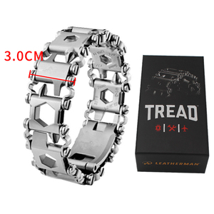 Image 2 - 29 in 1 Multifunction Tool Tread Bracelet Stainless Steel Outdoor Bolt Driver Tools Kit Travel Friendly Wearable Multitool Tool