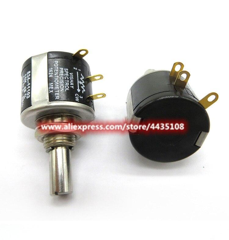 1 pièces pour potentiomètre multi-tours de précision Vishay spectrol 534-1-1/500 ohms 1k 2k 5K 10k 20K 50K 100K potentiomètre bobiné