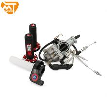 Carburador PZ30 de 30mm tuneado Power Jet 200 250cc para Keihin ABM IRBIS TTR 250 con Cable de acelerador Visiable, empuñaduras cónicas profesionales