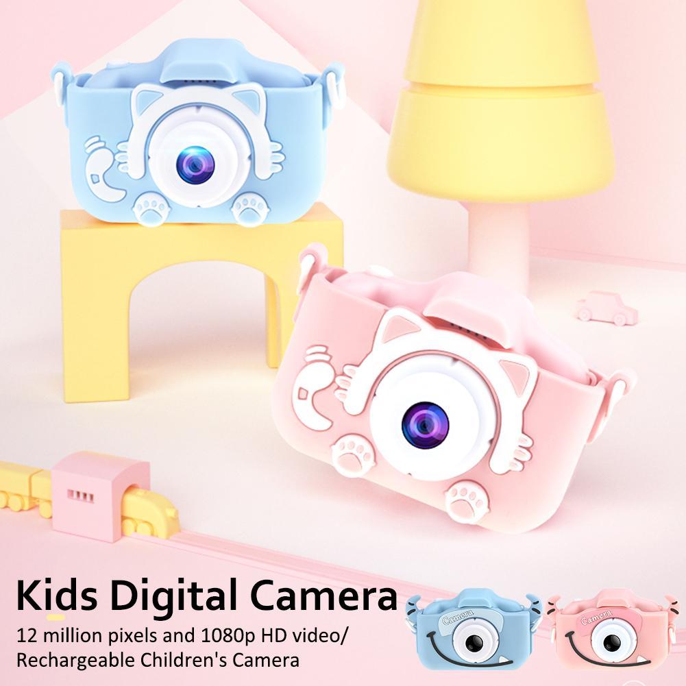 H9b6d1933a8cd4af5ac3b986e3b24aacbh Mini Cartoon Kids Camera Creative Children's Camera HD Digital Camera Portable 1080P Camera For Kids Birthday Christmas Gift