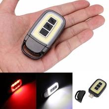 Mini LED Flashlight Keychain Portable Keyring Light Torch Re