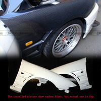 For Nissan R33 Skyline GTR BN Style FRP Fiber Black or Grey Unpainted Front Fender Mudguards Car Exterior accessories Body kits