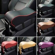 Skórzany samochód podłokietnik centralny Pad czarny Auto konsola środkowa podłokietnik Seat Box Mat poszewka na poduszkę pojazd ochronny stylizacja