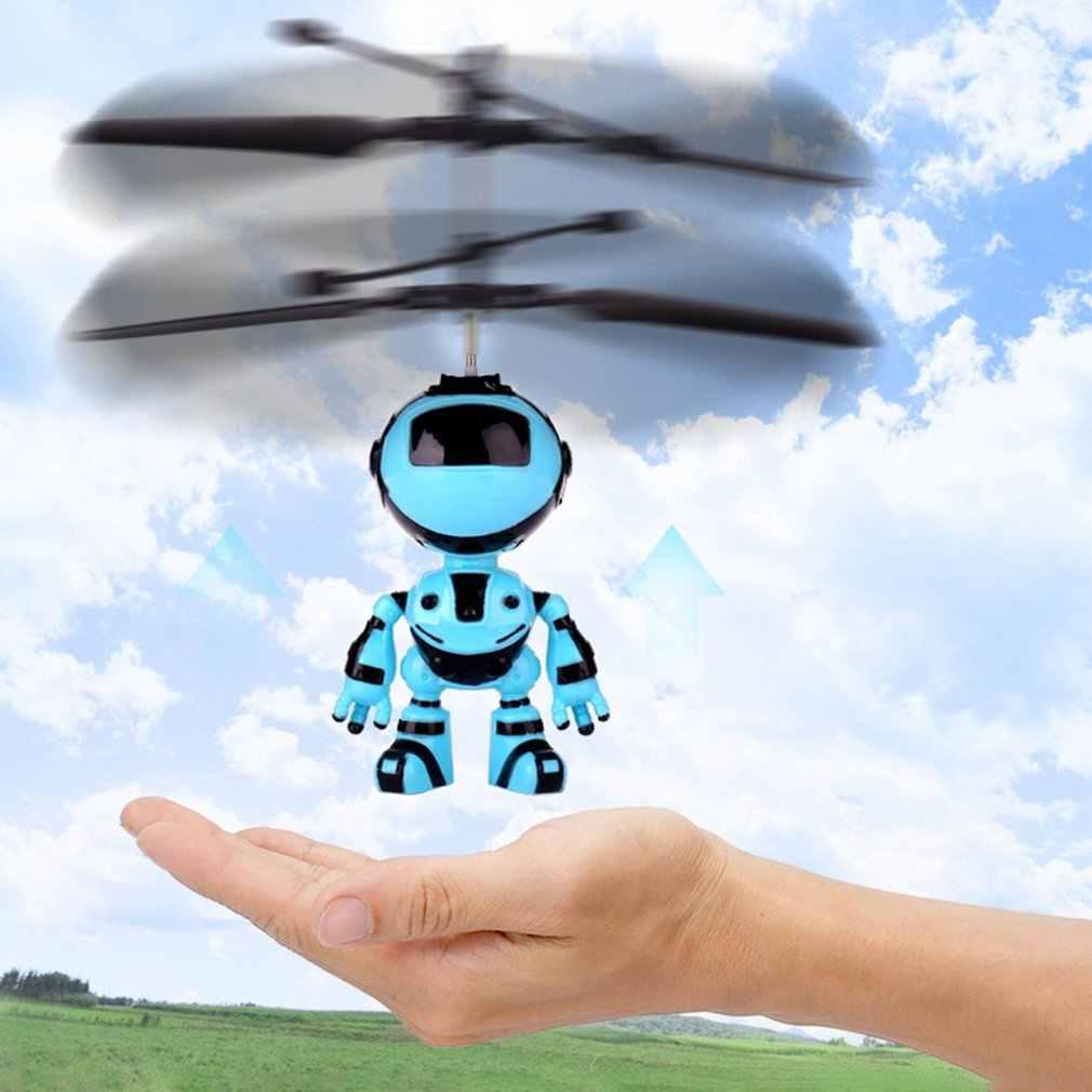 หุ่นยนต์ Suspension Induction เครื่องบินเด็ก Suspension Toy ของเล่นแสงเฮลิคอปเตอร์ Flying Toy ชาร์จ Drone