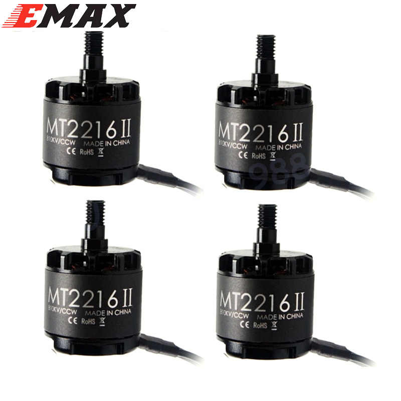 4x Emax MT2216 II 810KV CW CCW Brushless Motor with 1045 Propellers for RC