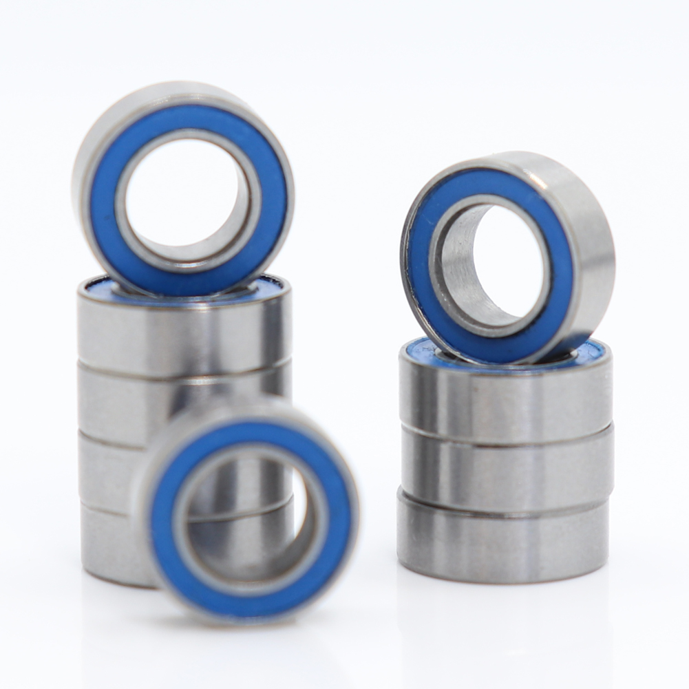 Rubber Sealed Ball Bearing Bearings MR95RS 5 Pcs 5x9x3 mm MR95-2RS BLUE