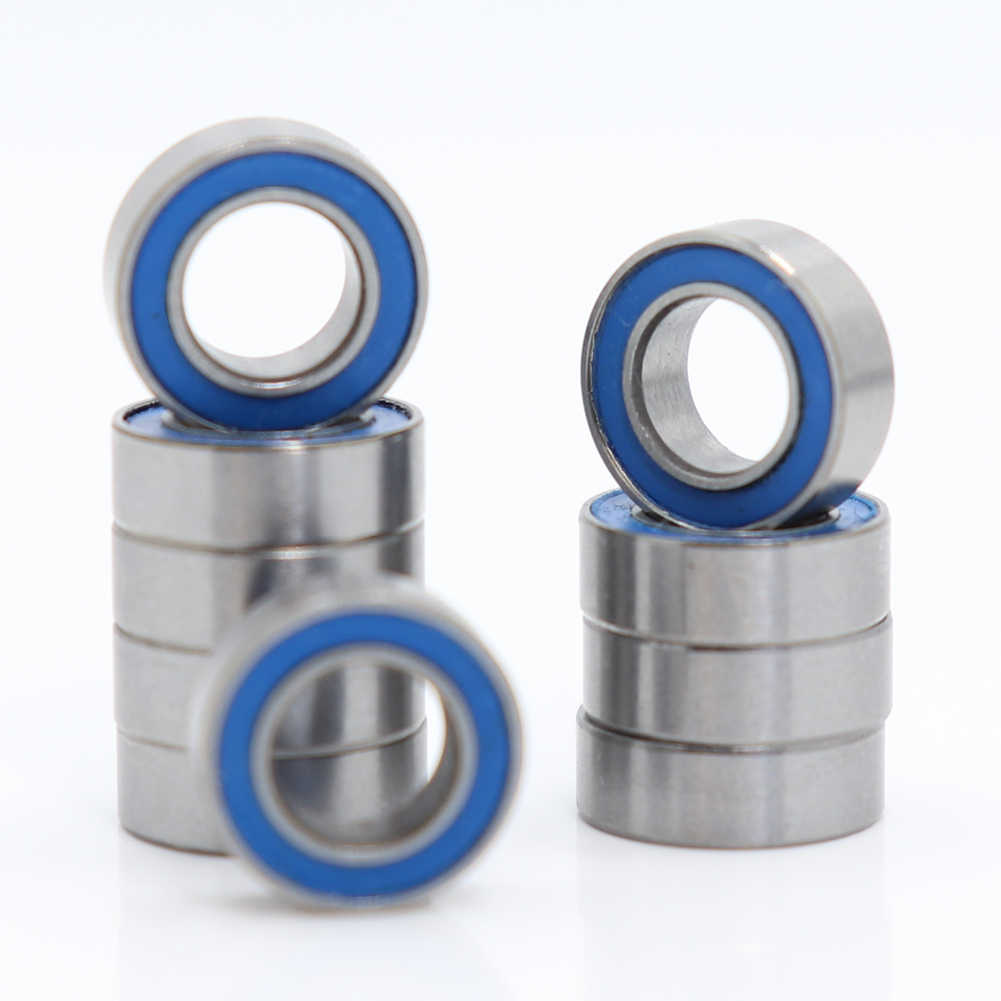 6701-2RS 12x18x4 mm 20 Pcs Rubber Double Sealed Ball Bearing 6701RS Blue