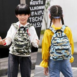 Image 3 - New Camouflage Children School Bags Backpacks Lighten Burden On Shoulder For Kids Kindergarten Backpack Mochila Infantil 2 sizes