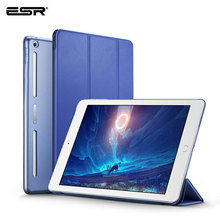 ESR Case for iPad 9.7 2017 PU Leather Front Cover Soft TPU Bumper Edge PC Back Auto Sleep Smart Case for New iPad 2018 Release case for ipad pro 9 7 inch esr slim fit shell case [soft tpu bumper corner] back cover for ipad pro 9 7 inches 2016 release