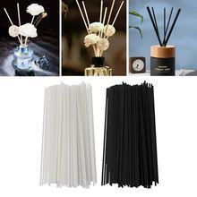 100Pcs 19cmx3mm Fiber Sticks Diffuser Aromatherapy Volatile Rod for Home Fragrance Diffuser Home Decoration