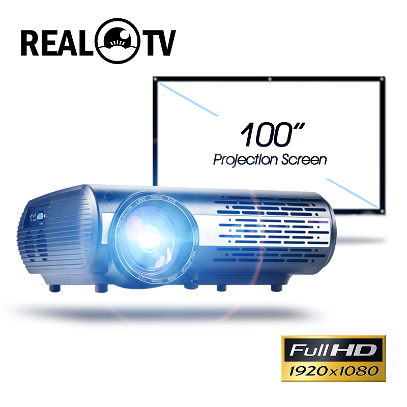 Real TV M2 Series Full HD 1080P LED Projector Home Beamer Optional Android WiFi HDMI USB AV Video Bluetooth Proyector with gift 1