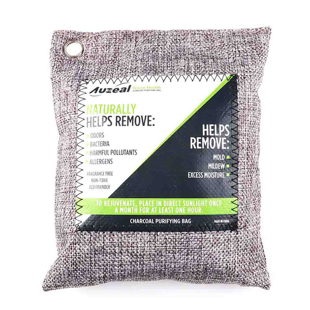 Breathe Green Charcoal Odor Eliminator Bags(8-Pack) Activated Bamboo Charcoal Deodorizer Natural Freshener Removes Odor&Moisture