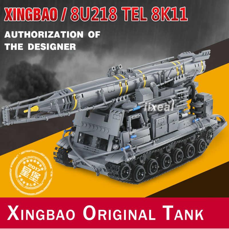Xingbao 06005 ทหารชุด 8U218 เทล 8K11 Building Blocks 1750 ชิ้นเข้ากันได้กับ DIY TANK อิฐสำหรับของขวัญเด็ก MOC