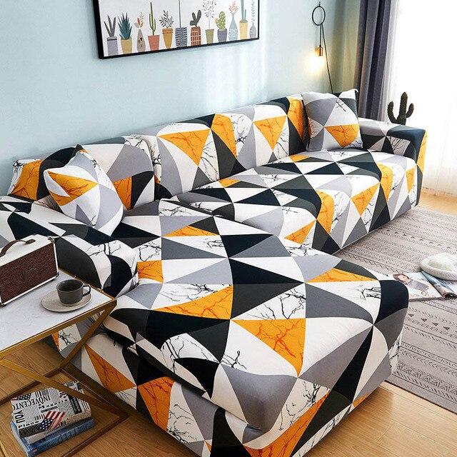 накидки для углового дивана l образной формы эластичные секционные фотография