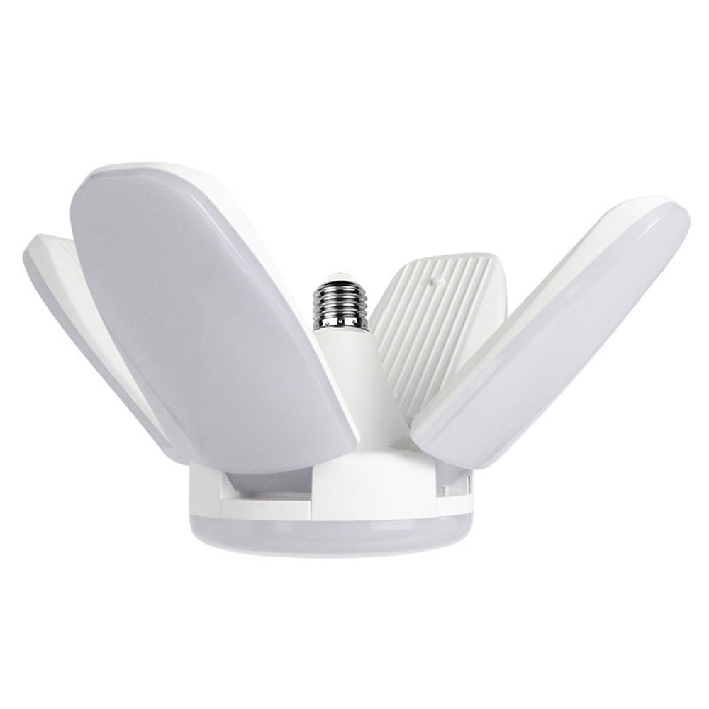A60W Indoor LED Deformable Folding Lamp 220V 60W Four Leaf Led High Bay Light Garage Lamp 3850LM Waterproof Ceiling Light
