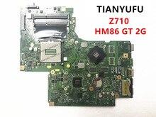 FOR lenovo Z710 Motherboard HM86 GT 2G N15S GT B A2 DUMB02 Laptop Motherboard tested 100% work