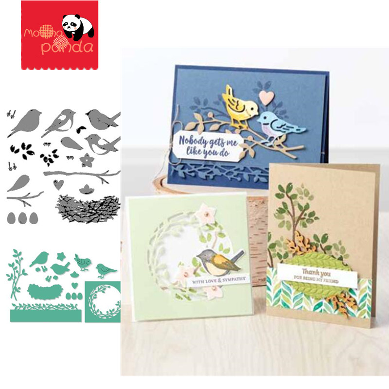 MP151 BIRDS Metal Cutting Dies And Stamps Embossing Stencils For DIY Photo Album Decor Greeting Paper Card Making Crafts