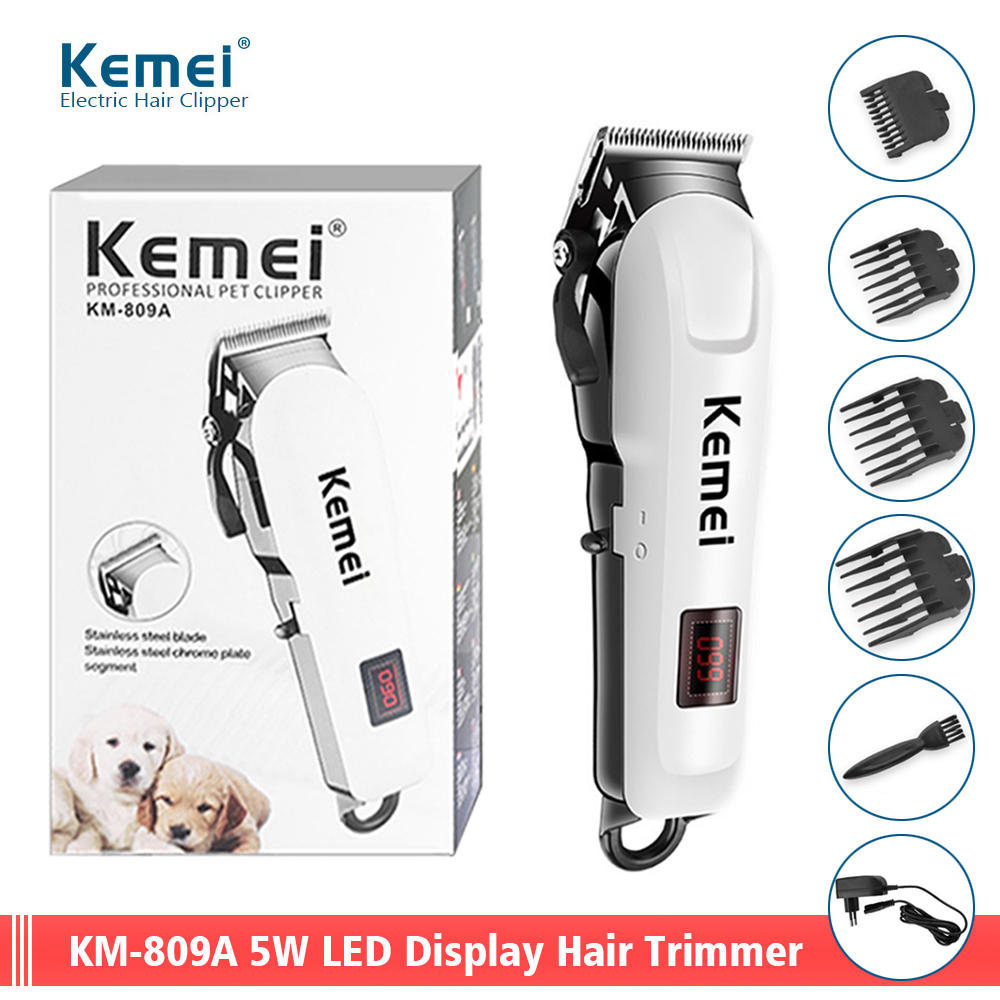 Rechargeable LED Display Hair Clipper Professional Hair Trimmer Men Electric Hair Cut Machine Cordless Razors Shaver Low Noise