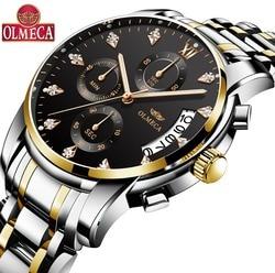 OLMECA męskie zegarki kwarcowe zegarek militarny luksusowej marki męskie wodoodporne zegarki Relogio Masculino zegarek mody dla mężczyzn w Zegarki kwarcowe od Zegarki na