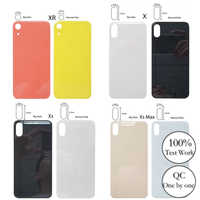 100%New High Quality Big Hole Back Glass Battery Cover ,For iPhone X XR XS Xsmax Big Hole Battery Cover Rear Door Housing Cover