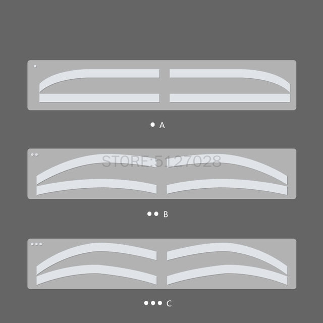 6 Pair Disposable Eyebrow Tattoo Shaping Auxiliary Sticker Templates Eyebrow Stencil Semi Permanent makeup tool 1