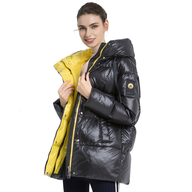 ICEbear 2019 Новая зимняя женская куртка высокого качества с капюшоном Женские модные зимние куртки Теплая женская одежда Повседневная женская парки GWD19502