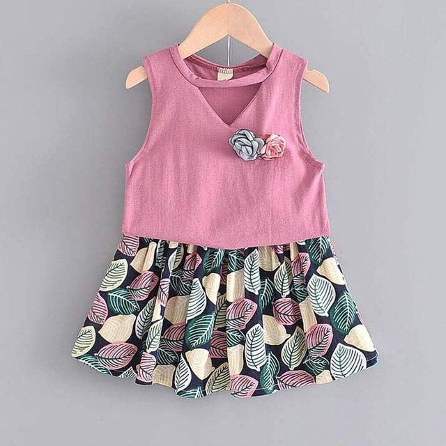 Set Pakaian Lengan Pendek dan Celana Pendek Anak Perempuan 4