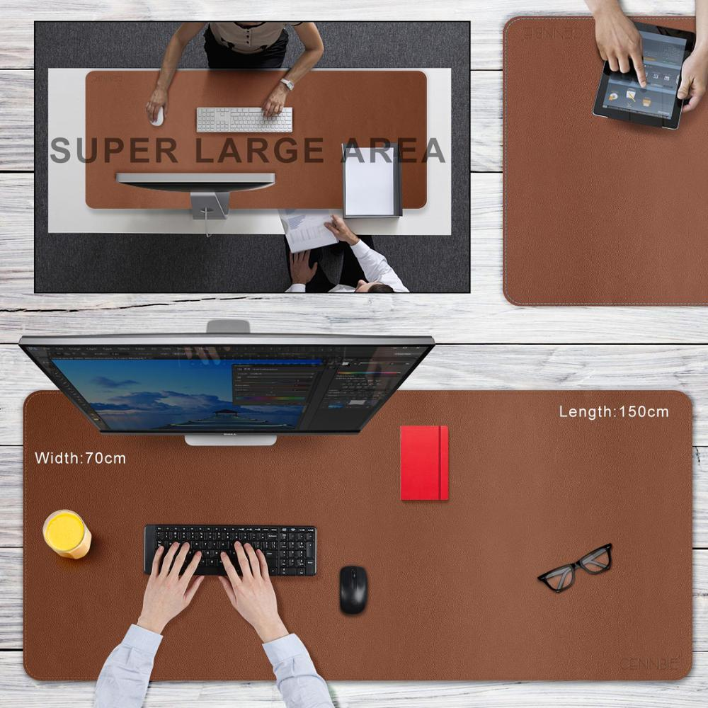 CENNBIE Large PU Leather Mouse Pad 100*50/120*50/130*60/150*70/ Big Keyboard Mat Leather Desk Pad for Office,Home,Gaming,School image