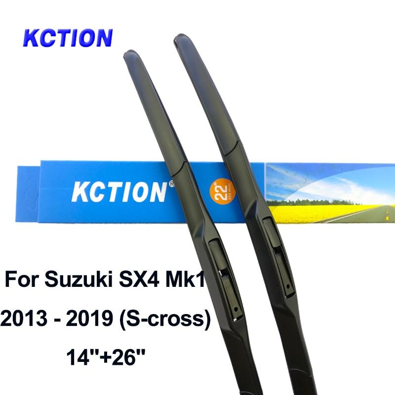 Windshield hybrid wiper blade windscreen rear wiper car accessories for Suzuki SX4 SX4 S Cross Fit Hook Arm Model Year 2006 2019 in Windscreen Wipers from Automobiles Motorcycles