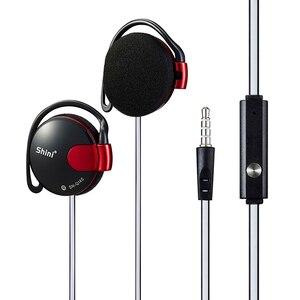 3,5 мм проводные наушники, супер бас, шумоподавляющая гарнитура, ушной крючок с микрофоном для iPhone Xiaomi Samsung HuaWei, все мобильный телефон