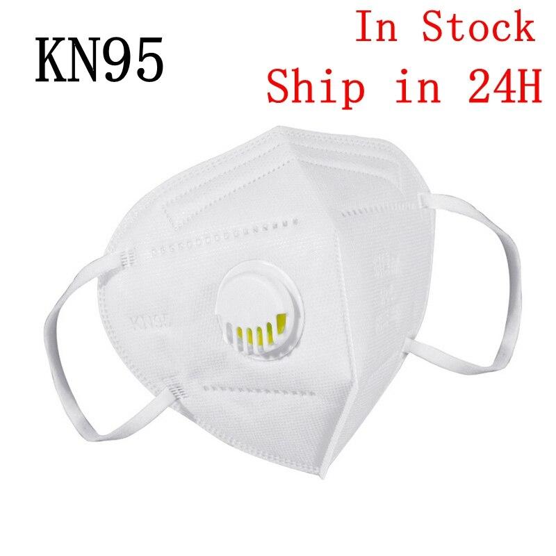 10 шт. модный унисекс дыхательный клапан PM2.5 маска для рта Анти пыль против загрязнения маска KN95 ткань фильтр с активированным углем респиратор|Маски| | - AliExpress