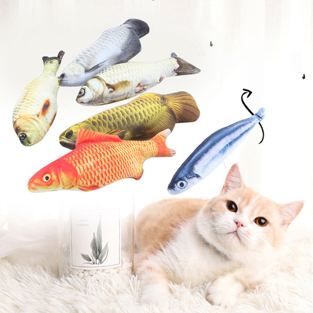 Pet Plush Simulation Fish With Catnips Cat Toy Squid Saury Fish Squid Cat Toy Simulation Fish Cat Toy