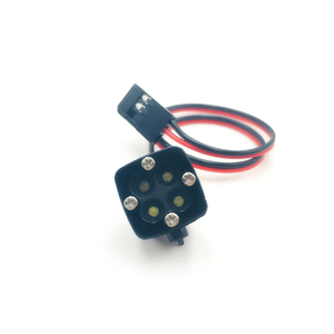 Image 3 - KYX Racing 4 LED Light Square Lamp for 1/7 1/8 1/10 RC Car Accessories Axial SCX10 II Traxxas TRX4 TRX 4 7.2 12V