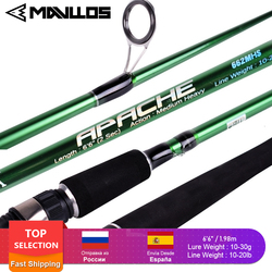 APACHE MH Power Spinning Fishing Rod 1.98M 2 Section Lure Weight 10-30g Fast Action Surf Saltwater Fishing Spinning Rod Pole