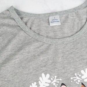 Image 3 - Pigiami per le donne del manicotto del bicchierino di estate delle donne pigiami degli indumenti da notte pigiama di cotone donne carino pigiama set donne pijama mujer verano