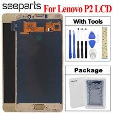 """5.5 """"Lenovo Vibe P2c72 P2a42 P2 wyświetlacz LCD ekran dotykowy Digitizer czujnik zgromadzenie Lenovo P2 LCD z darmowymi narzędziami"""