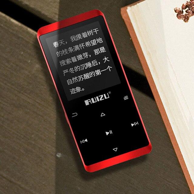 Original Ruizu D02 Bluetooth MP3 player Built in Speakers with e book Video Radio Mini Walkman