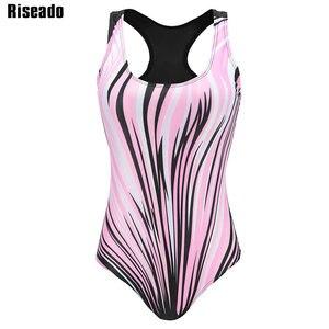 Image 3 - Costume da bagno intero Riseado Sport costumi da bagno competitivi donna 2020 stampa digitale Racer Back costumi da bagno Plus Size XXXL